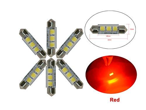 Njytouch 4/pcs 3,2/cm 31/mm 2-smd 5050/DE3175/DE3021/tous les 6428/7065/LED Festoon Voiture Int/érieur Porte Carte d/ôme lumi/ères DC 12/V