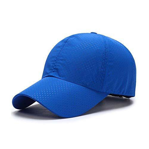 ZEARE schnell trocknend wasserdicht atmungsaktiv Hut Polyester Baumwolle Sonnenhut leichte Baseballmütze Sport Cap Unisex (Blau)