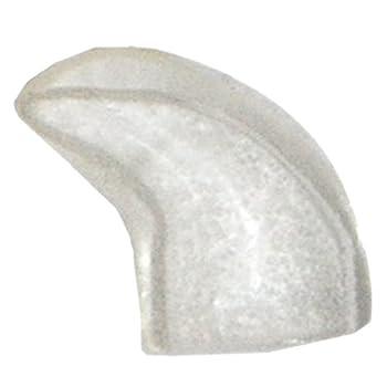 TOOGOO(R) 20 Pieces Casquettes de clou doux pour le chat + Colle adhesive - Transparent, taille M