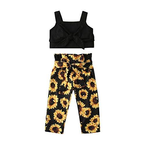 HWTOP Kinderkleidung - Fitness-Bekleidungssets für Mädchen in Schwarz, Größe 2-3 Jahre