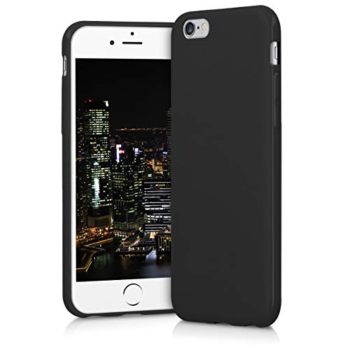 kwmobile Cover Compatibile con Apple iPhone 6 / 6S - Custodia in Silicone TPU - Backcover Protezione Posteriore- Nero Matt