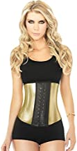 Ann Chery 2040 Metallic Gold Women Workout Waist Cincher Latex Training Corset Shapewear Trainer M 34