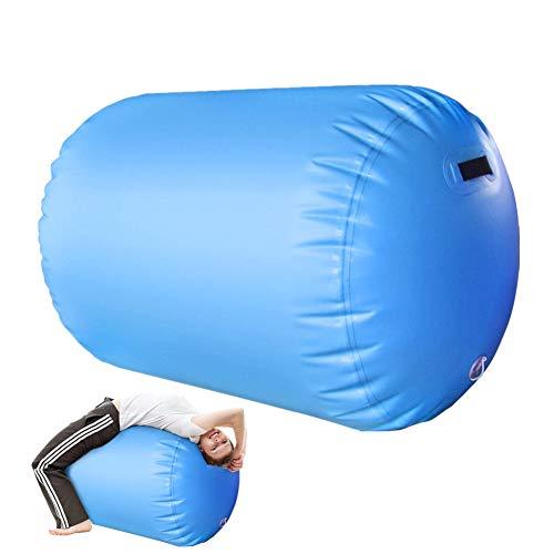BIN Rodillo de Aire de Gimnasia Set de Alfombra de Bloque de Aire Trayectoria Estera Colchonetas inflables para el Gimnasio Uso en casa Entrenamiento de Yoga de animador,Azul,100x60cm