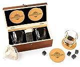 Cumbreca Whisky Stones Set de Regalo Contiene Las Piedras enfriadoras y los Vasos para del Whisky: 9 Piedras enfriadoras para el Whisky y Otras Bebidas, Hechas de Granito Negro Pulido