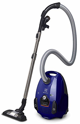 Electrolux EL4012A Silent Performer Bagged Canister Vacuum with 3-in-1 Crevice Tool and HEPA Filter, Blue