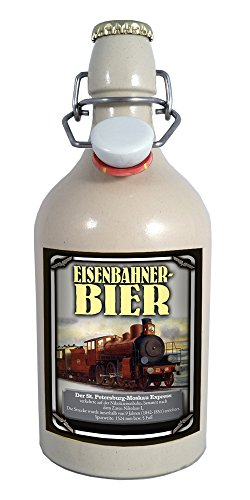 Eisenbahner-Bier St. Petersburg 0,75 Liter Tonflasche mit Bügelverschluss