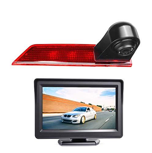 "Rückfahrkamera Transporter Kamera an 3. Bremsleuchte Dachkante Einparkhilfe (NTSC) für Ford Transit Custom V362 2012-2019 +4.3\"" Zoll DVD Monitor TFT Bildschirm LKW KFZ LCD Display"