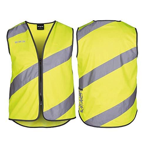 Wowow 016014 Sicherheitsweste mit hoher Sichtbarkeit, M, gelb