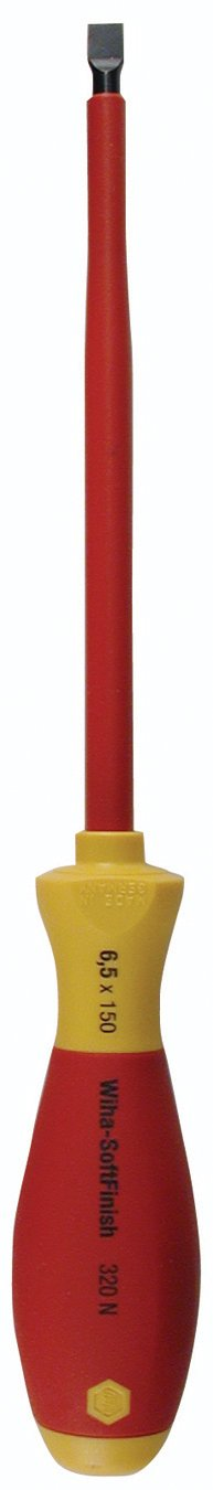 SoftFinish Insulated Screwdrivers - 6.5 x 150mm (1/4) slotted insul