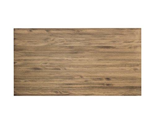 Decowood - Cabecero Clásico para Cama Dormitorio, Lamas Horizontales, Madera de Pino Gallego Envejecido - 160 x 80 cm