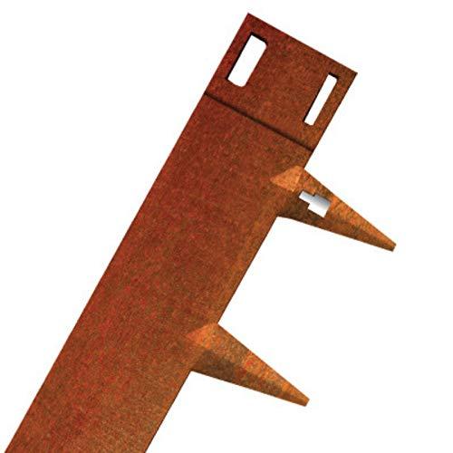 CORE Edge Lawn Edging 5m | Cor-Ten Flexible Steel | 65mm Face | Pack...
