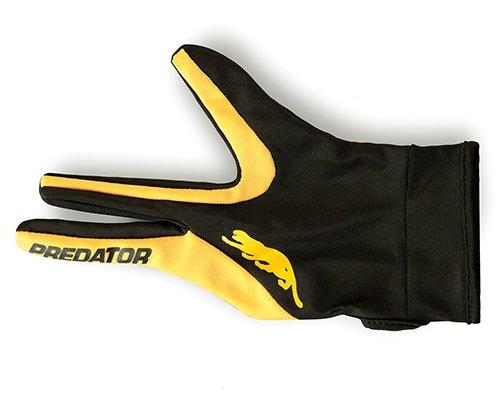 Predator Pool Queue Handschuh in gelb/schwarz Farbe Professional Billiards Zubehör für links/Rechtshänder Spieler Größe S/M L/XL, Yellow/Black - S/M