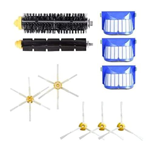 SONGHUA Chao Cepillo Lateral de Rodillos centrales Filtro HEPA FIT para IROBOT Roomba 600 Series 605 606 616 620 650 655 660 676 Robot Aspirum (Color : Blauw)