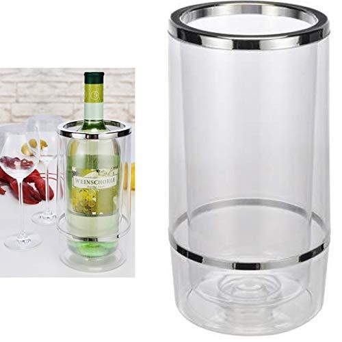 Smartweb Flaschenkühler Weinkühler Sekt Wein Kühler doppelwandig Höhe 23cm