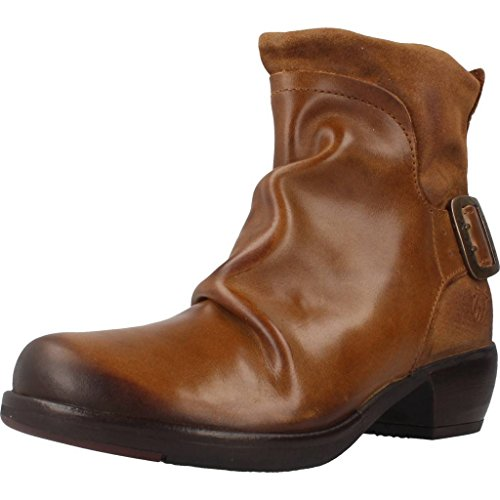 FLY London Mel P141633, Damen Biker Boots, Braun (CAMEL 000), 37 EU (4 UK)