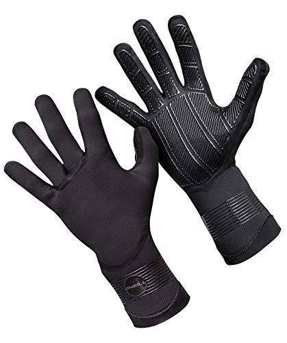 O';Neill Psycho 1.5MM dubbel gevoerde neopreen wetsuit-handschoenen zwart - volwassenen unisex - 100% verzegeld - plakkerige grip