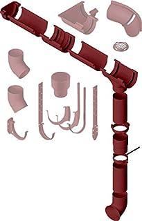 comprar comparacion Kit de canalones de PVC para 2 casas de techo en 3 colores. (Kit todo en uno de hasta 22 metros. Blanco, rojo, marrón – re...