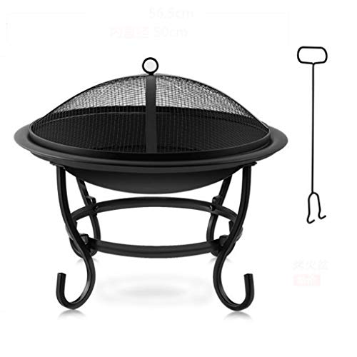 LZL Firewood Basket Fire Pit for Camping, Outdoor Heating, Bonfire and Picnic 18in Square Metal Firepit Backyard Patio Garden Fireplace (Color : B)