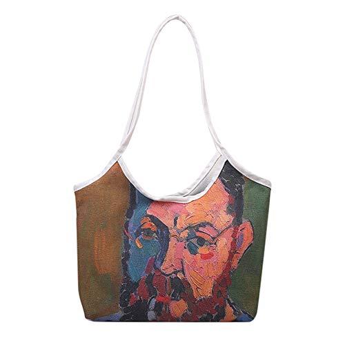 Bolso de mano para mujer, bolso de la compra, bolso de mano, bolso de mano, bolso de mano, gran impresión de pinturas al óleo, bolso de playa, bolso de mano, vacaciones diarias en la playa, viaje