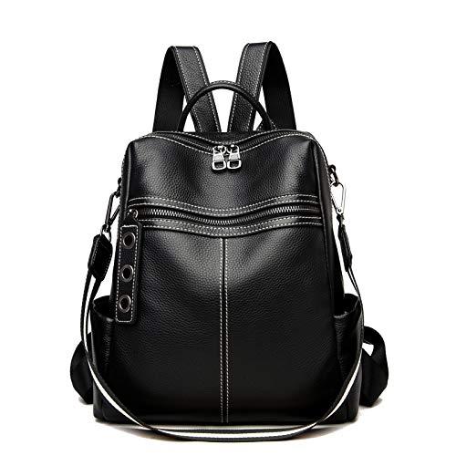 Mochila para mujer Mini de moda pequeña de cuero genuino mochila impermeable mochila de señoras antirrobo convertible bolso de viaje