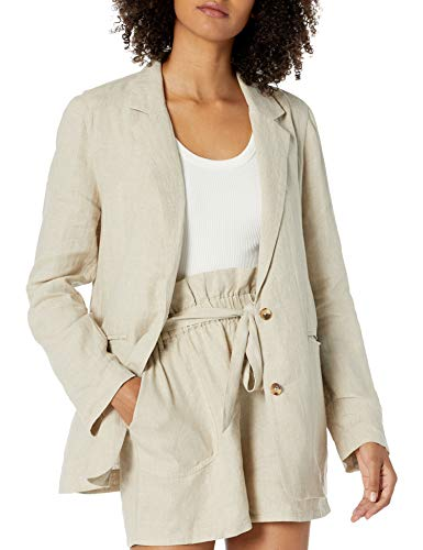 The Drop Women's Mary Loose-fit Turn-Up Sleeve Blazer