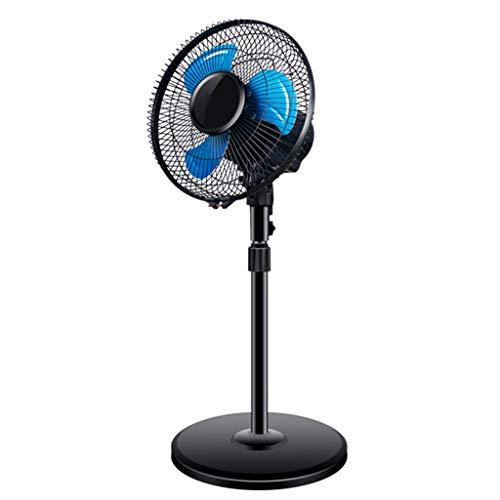 OCYE Pequeña oscilante Ventilador de pie 12 Pulgadas Ventilador de Pedestal con 4 ajustes de Velocidad, Altura Ajustable 30 Pulgadas a 41 Pulgadas Abanico de Mesa, Negro
