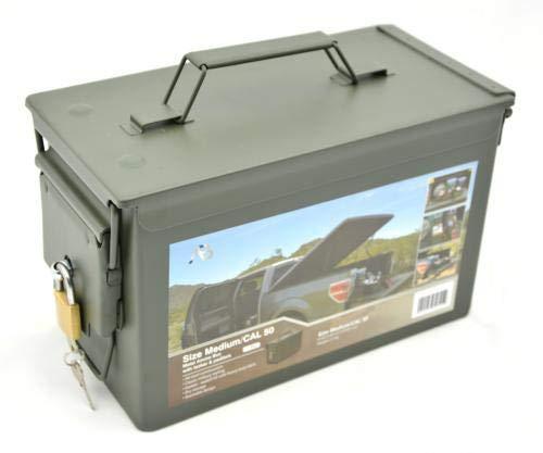 AB Abschließbare Munitions- und Werkzeugkiste mit Schloss (Oliv/Kaliber 50)