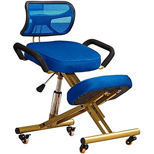 QSLS Ergonomic Kneeling Chair Knee Correction for Adults Chair Study Chair Ergonomic Seats Knee Learning Chair for Children Living Room,Blue