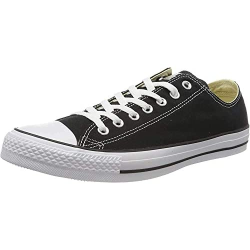 Converse Chuck Taylor All Star, Sneakers Unisex - Adulto, Nero (Black/White M9166), 35 EU