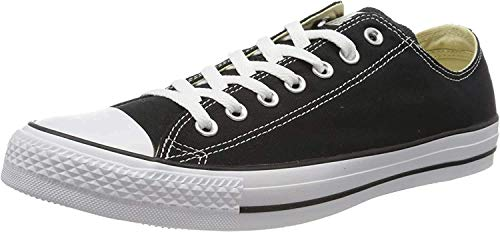 Converse Chuck Taylor All Star Canvas Low Top Sneaker, Black/White ,9.5 Men/11.5 Women