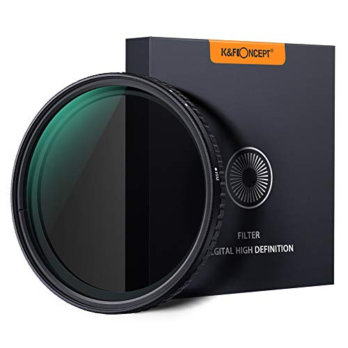 K&F Concept ND Filter 77mm Objektiv Filter Nano Slim Neutral Dichte Graufilter 77mm Variable ND Filter ND8~ND128