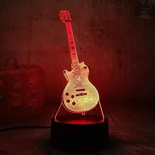 3D nachtlampje nachttafellamp stereo slide bas gitaar multicreatief bureau kinderen geschenken decoratie flash vakantie geschenk sfeer lamp