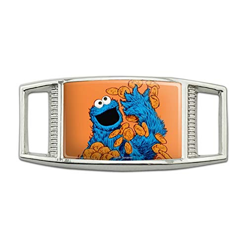 Sesame Street Vintage Cookie Monster Rectangular Shoe Shoelace Shoe Lace Tag Runner Gym Charm Decoration