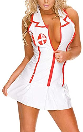 Cosplay Halloween Sexy School Girl Lingerie Conjunto De Disfraces De Enfermera Traje Lencería De Colegiala Traviesa Vestido De Lujo Conjunto De Ropa Interior Falda para Mujeres Adultas