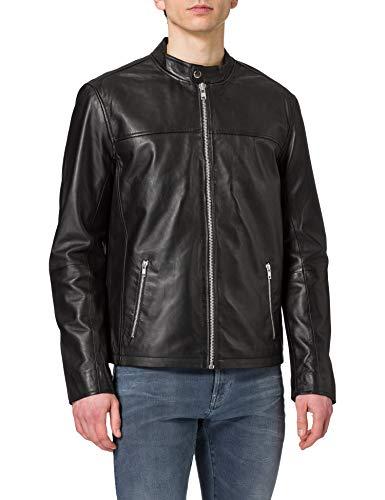 Only & Sons ONSDEAN New Leather Jacket SI 9131 Noos Chaqueta de Cuero, Negro, XS para Hombre