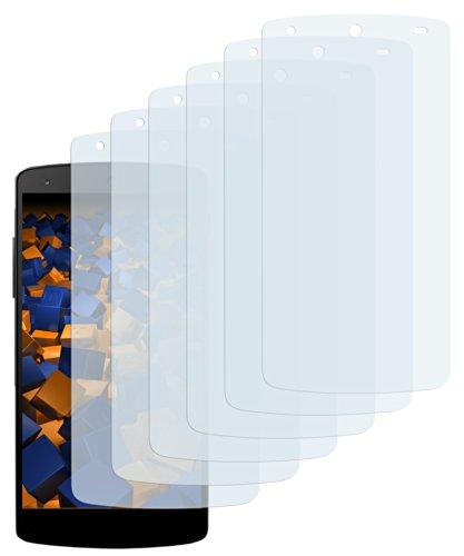 mumbi Schutzfolie kompatibel mit LG Google Nexus 5 Folie klar, Bildschirmschutzfolie (6X)