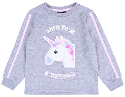 Primark Graues Sweatshirt mit einem Einhorn 6-7 Jahre
