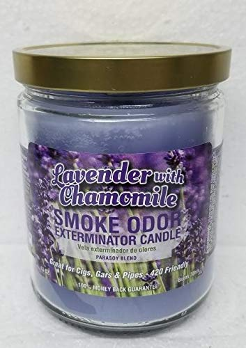 Smoke Odor Exterminator 22 oz Jar Candle, Lavender with Chamomile. Including 13 oz Wax