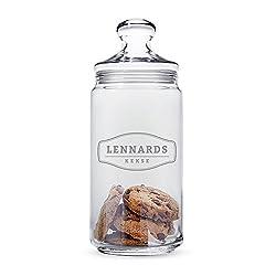 """Casa Vivente - Keksglas mit Gravur und Deckel – """"Vintage Rustikal"""" – Personalisiert mit [Namen] – Keksdose – Vorratsglas – lustige Geschenkidee zum Geburtstag"""