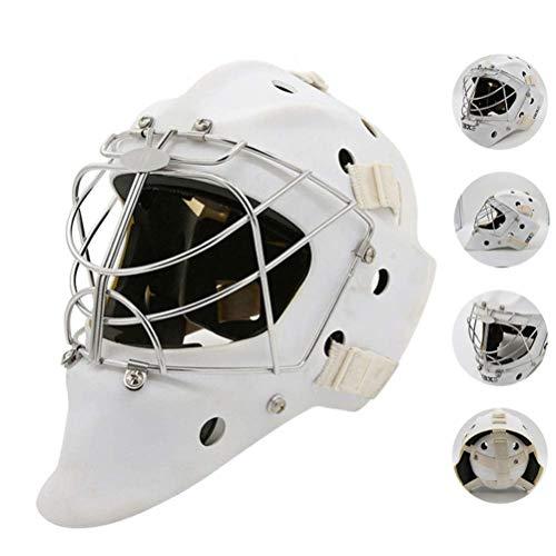 4U4 Eishockey Helm Explosionsgeschützte Torwart Schutzhelm Helm Einstellbar Schutz EIS und Schnee Sport-Hockey-Helm,L