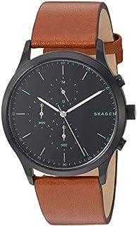 Skagen Men's Jorn Stainless Steel Analog-Quartz Leather Strap, Brown, 20.9 Casual Watch (Model: SKW6477)