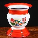 GJKK 1960s Traditioneller chinesischer Obstkorb, doppellagiger Wärmeisolierung Ice Bucket Fruit& Vegetable Storage Bowl Display Stand Modern Holz Schüssel Schale Deko Obstschale Tischdeko - 3