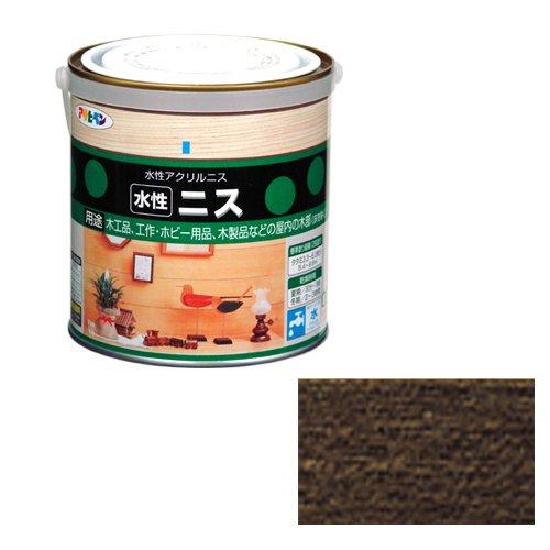 アサヒペン 水性ニス ダークオーク 缶0.7l