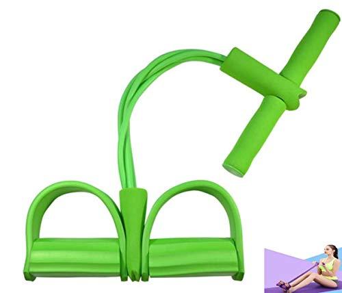 ZYLL Bande 4 Tirare Resistanc Elastico Corde Ginnico Vogatore della Pancia della Fascia di Resistenza Home Gym Sport Training Elastici per Attrezzi Fitness,Verde