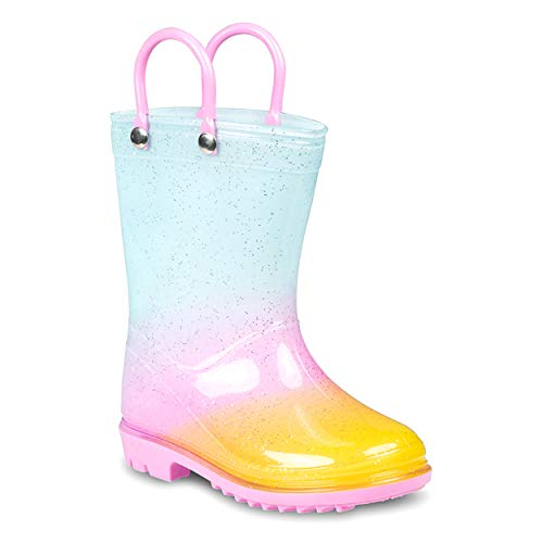 ZOOGS Kids Waterproof Rain Boots for Girls and Toddlers Black Boys