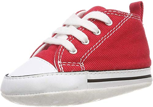 Converse First Star Cvs 022110-12-4, Unisex - Kinder Sneaker, Rot Canvas, EU 19