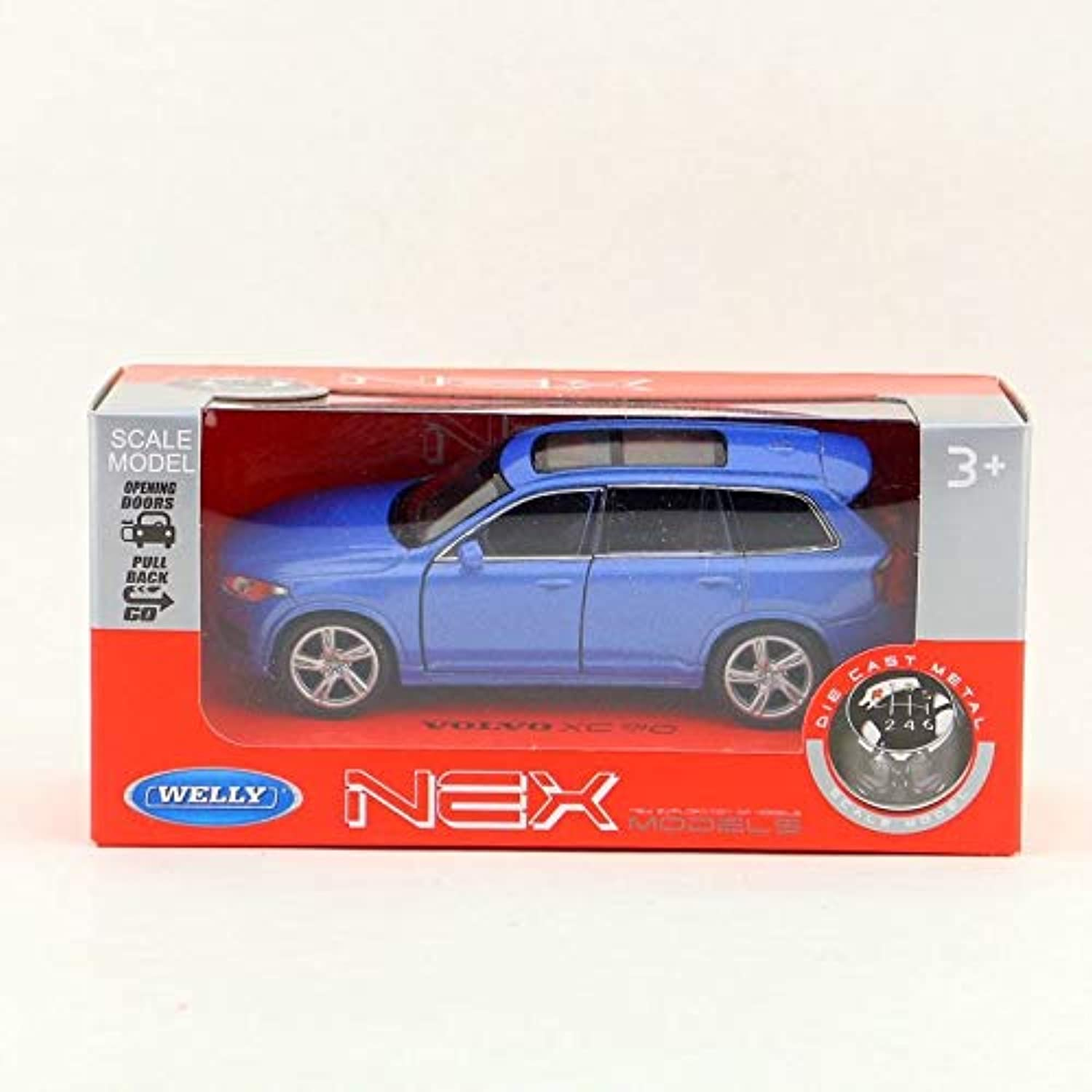 Generic 1 36 Scale Volvo XC90 SUV Alloy Car Model Pull Back Car Toy 2 Open Door Toy Vehicle for Kids Birthday Gift D