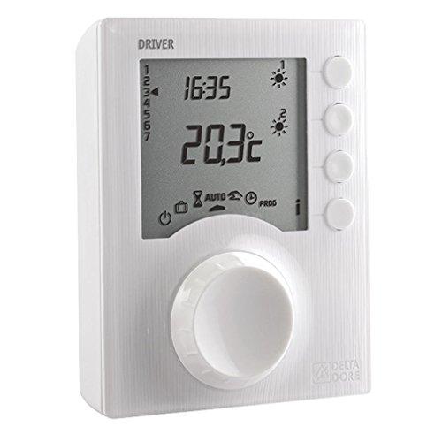 Delta Dore Programmateur pour radiateur électrique Driver 620 - Programmation jusqu'à 2 Zones - 6050426