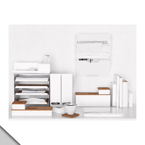 IKEA–KVISSLE壁マガジンラック、ホワイト