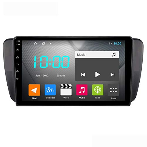 Android 9.0 Car Stereo Double Din Compatible con SEAT IBIZA 2009-2014 Navegación GPS Unidad principal de 9 pulgadas Pantalla táctil Reproductor multimedia MP5 Receptor de video y radio con 4G WIFI DS